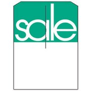 5 x 7 Slotted Tags Sale, Green on White