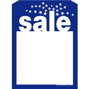5 x 7 Slotted Tags Sale, Blue on White