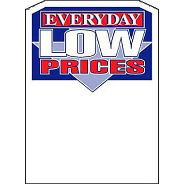 5in. x 7in. Slotted Tags in.EVERYDAY LOW PRICESin., Blue/Red on White