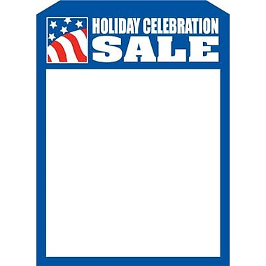 5in. x 7in. Slotted Tags in.HOLIDAY CELEBRATION SALEin., Blue on White