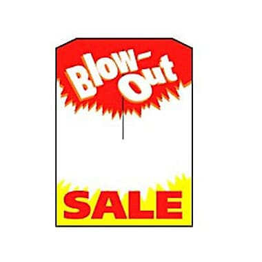 5in. x 7in. Slotted Tags in.Blow-Out SALEin., Red/Yellow on White