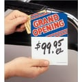 5in. x 7in. Slotted Tags in.GRAND OPENINGin., Blue/Red on White