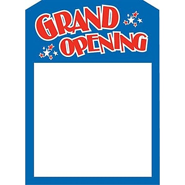 5in. x 7in. Jump Star Slotted Tags in.GRAND OPENINGin., Blue/Red on White