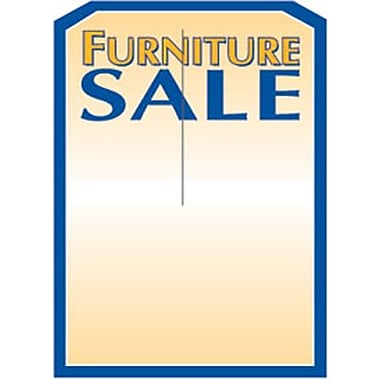 5in. x 7in. Slotted Tags in.FURNITURE SALEin., Blue on Yellow