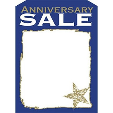5in. x 7in. Slotted Tags in.ANNIVERSARY SALEin., Silver/Blue on White