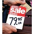 """5"""" x 7"""" Slotted Tags """"Clearance Clearance Sale"""", Red on White"""