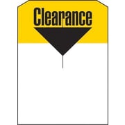 5 x 7 Slotted Tags Clearance, Yellow/Black on White