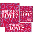 14 Pcs Big Format Sign Kit in.VALENTINE'S DAYin., White/Blue on Red