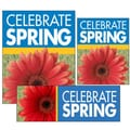 14 Pcs Big Format Sign Kit in.CELEBRATE SPRINGin., White on Blue