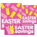 22 Pcs Budget Sign Kit in.EASTER SAVINGSin., White/Yellow on Pink