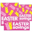 14 Pcs Big Format Sign Kit in.EASTER VALUESin., White/Yellow on Pink