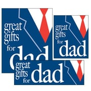 14 Pcs Big Format Sign Kit GREAT GIFTS FOR DAD, White/Red on Blue