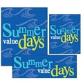 14 Pcs Big Format Sign Kit in.SUMMER VALUE DAYSin., White/Yellow on Blue