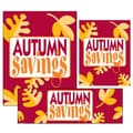 14 Pcs Big Format Sign Kit in.AUTUMN SAVINGSin., Yellow on Red