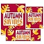 14 Pcs Big Format Sign Kit AUTUMN SAVINGS,