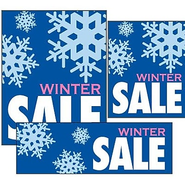 14 Pcs Big Format Sign Kit in.WINTER SALEin., White/Pink on Blue