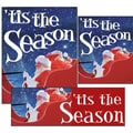 14 Pcs Big Format Sign Kit in.TIS THE SEASONin., White on Blue