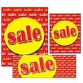 14 Pcs Big Format Sign Kit in.SALEin., Yellow on Red