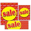 "14 Pcs Big Format Sign Kit ""SALE"", Yellow on Red"