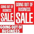 14 Pcs Big Format Sign Kit in.GOING OUT OF BUSINESS SALEin., White on Red