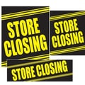 14 Pcs Big Format Sign Kit in.STORE CLOSINGin., Yellow on Black