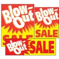 14 Pcs Big Format Sign Kit in.BLOW-OUT SALEin., White/Red on Yellow