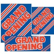 14 Pcs Big Format Sign Kit in.GRAND OPENINGin., Red on Blue
