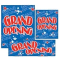 14 Pcs Jump Stars Big Format Sign Kit in.GRAND OPENINGin., Red on Blue
