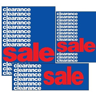14 Pcs Big Format Sign Kit in.CLEARANCE SALEin., White/Red on Blue