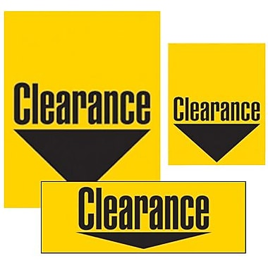 14 Pcs Big Format Sign Kit in.CLEARANCEin., Black on Yellow