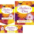 22 Pcs Budget Sign Kit in.MOTHER'S DAYin., Multicolor