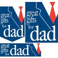 22 Pcs Budget Sign Kit in.GREAT GIFTS FOR DADin., White/Red on Blue