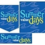 22 Pcs Budget Sign Kit SUMMER VALUE DAYS,