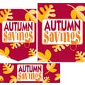 22 Pcs Budget Sign Kit in.AUTUMN SAVINGSin., Yellow on Red