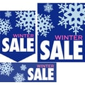 22 Pcs Budget Sign Kit in.WINTER SALEin., White/Pink on Blue