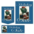 22 Pcs Budget Sign Kit in.HOLIDAY SALEin., White on Blue