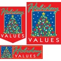 22 Pcs Budget Sign Kit in.HOLIDAY VALUESin., White/Green on Red