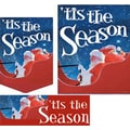 22 Pcs Budget Sign Kit in.TIS THE SEASONin., White on Blue