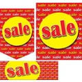 22 Pcs Budget Sign Kit in.SALEin., Yellow on Red