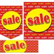 36 Pcs Super Sign Kit in.SALEin., Yellow on Red