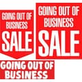 22 Pcs Budget Sign Kit in.GOING OUT OF BUSINESS SALEin., White on Red