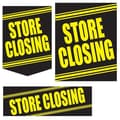 22 Pcs Budget Sign Kit in.STORE CLOSINGin., Yellow on Black