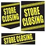 22 Pcs Budget Sign Kit STORE CLOSING, Yellow