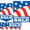 22 Pcs Budget Sign Kit in.HOLIDAY CELEBRATION SALEin., White on Blue/White/Red