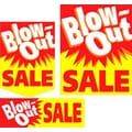 22 Pcs Budget Sign Kit in.BLOW-OUT SALEin., White/Red on Yellow