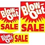 22 Pcs Budget Sign Kit BLOW-OUT SALE, White/Red