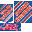 22 Pcs Budget Sign Kit in.GRAND OPENINGin., Red on Blue