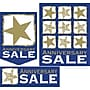 22 Pcs Budget Sign Kit ANNIVERSARY SALE, White/Gold