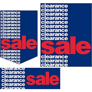 22 Pcs Budget Sign Kit in.CLEARANCE SALEin., Red/White on Blue
