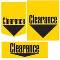 36 Pcs Super Sign Kit in.CLEARNACEin., Black on Yellow